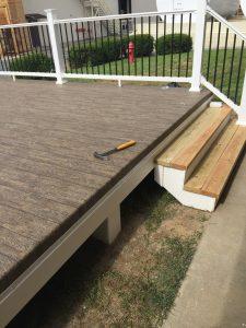 Waterproofing an elevated deck