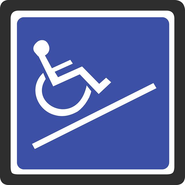 Wheelchair sign, vinyl decking used for wheelchair use, OnDek Vinyl Worx, Aldergrove BC